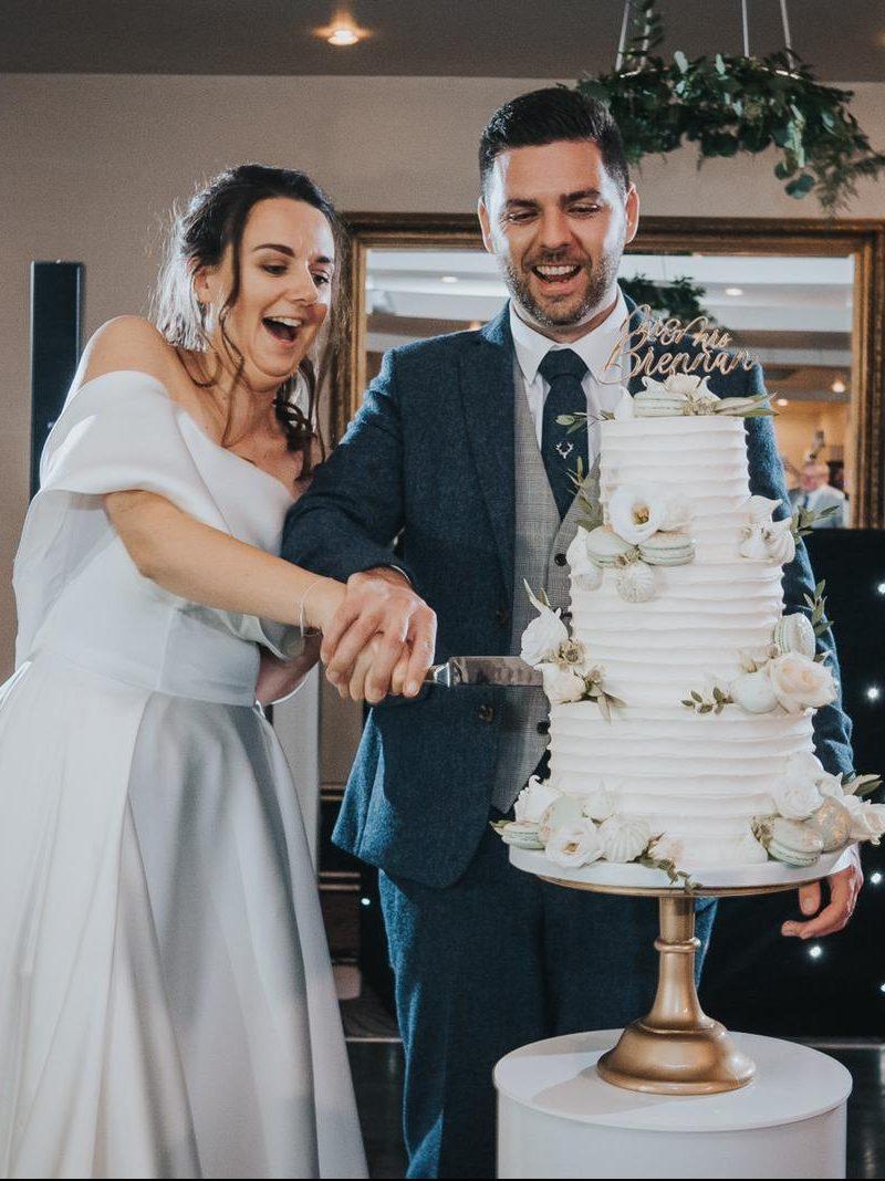 Buttercream wedding cake prested hall essex wedding